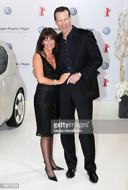 Henry Maske and his wife Manuela attends the 'VolksWagen People's Night' as part of the 58th Berlinale Film Festival at the Grand Hyatt Hotel on...