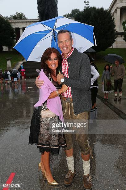Henry Maske and his wife Manuela Maske during the opening of the oktoberfest 2016 at Theresienwiese on September 17 2016 in Munich Germany