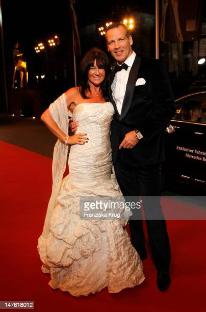 Henry Maske and Manuela Maske attend the Red Carpet for the Bambi Award 2011 ceremony at the Rhein-Main-Hallen on November 10, 2011 in Wiesbaden,...