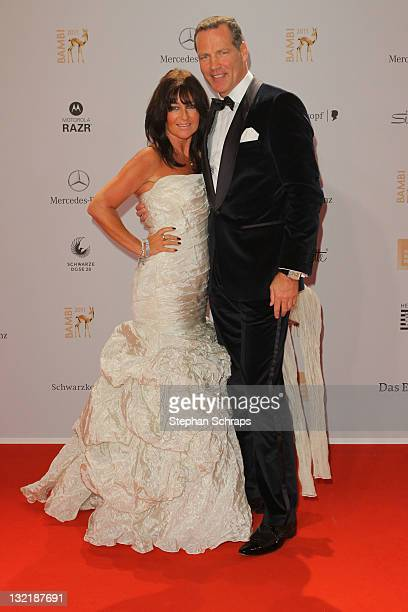 Henry Maske and wife Manuela attends the Red Carpet for the Bambi Award 2011 ceremony at the RheinMainHallen on November 10 2011 in Wiesbaden Germany