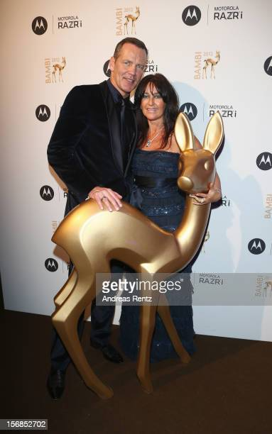 Henry Maske and wife Manuela Maske attend the after show party to the 'BAMBI Awards 2012' at the Stadthalle Duesseldorf on November 22 2012 in...