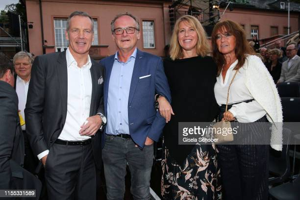 Henry Maske, Frank Plasberg and his wife Anne Gesthuysen, Manuela Maske during the opening of the Nibelungen Theatre Festival at St Peter's Cathedral...