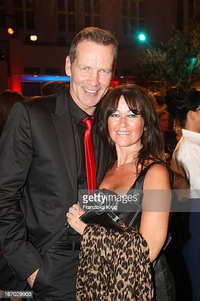 """Henry Maske Und Ehefrau Manuela Bei Der Verleihung Des """"Deutschen Gründerpreises 2008"""" Im Zdf Hauptstadtstudio In Berlin ."""