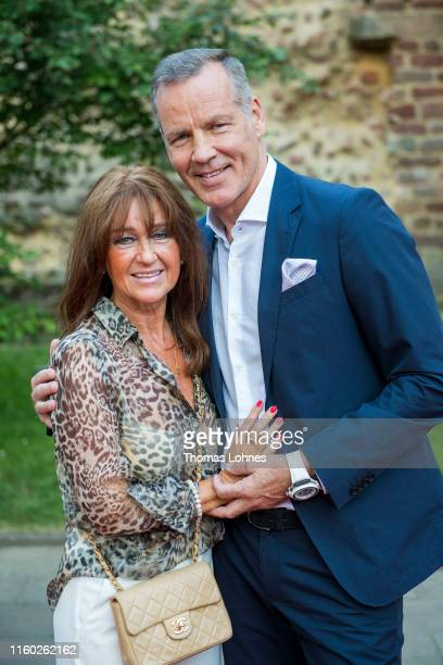 Henry Maske und his wife Manuela Maske attend the opening of the 69. Bad Hersfelder Festspiele 2019 at Stiftsruine on July 05, 2019 in Bad Hersfeld,...