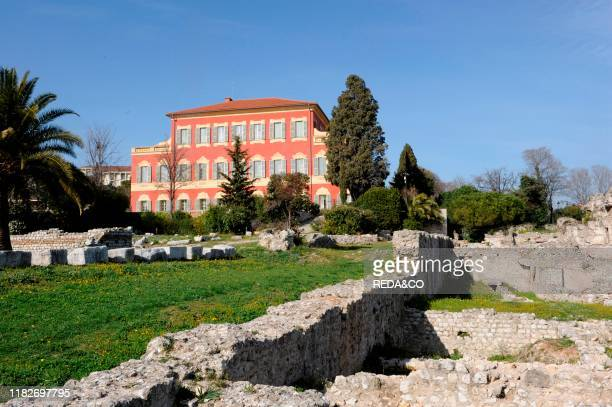 Henry matisse museum and ruins of roman town of cemenelum, cimiez, nice, cote d'azul, provence, france, europe.
