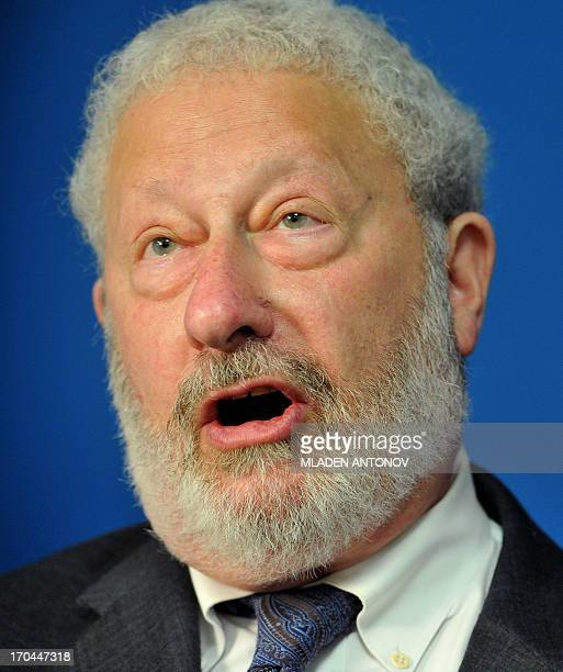 Henry Mayer senior advisor on archives at the US Holocaust Memorial Museum speaks during a press conference about the seizure of the longlost...