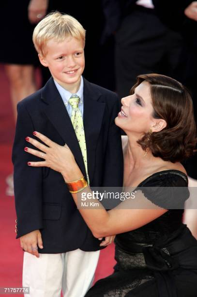 Henry McGrath son of director Douglas McGrath and actress Sandra Bullock arrive at the 'Infamous' premiere on the second day of the 63rd Venice Film...