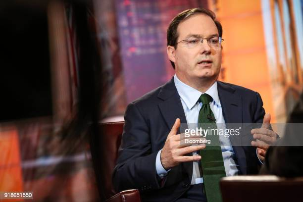 Henry McVey head of global macro and asset allocation for Kohlberg Kravis Roberts Co speaks during a Bloomberg Television interview in New York US on...