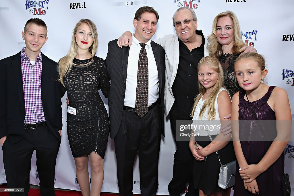 'Henry & Me' producer Joseph Avallone (C) and family pose for a photo with actor Danny Aiello (Center R) at the 'Henry & Me' red carpet special charity screening on September 24, 2014 in Greenwich, Connecticut.