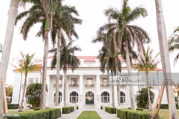 henry morrison flagler museum in palm beach, florida - palm beach county stockfoto's en -beelden