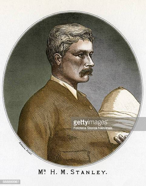 Henry Morton Stanley American journalist and explorer, native of Wales, portrait. He was been commissioned to find Dr. Livingstone by the newspaper...