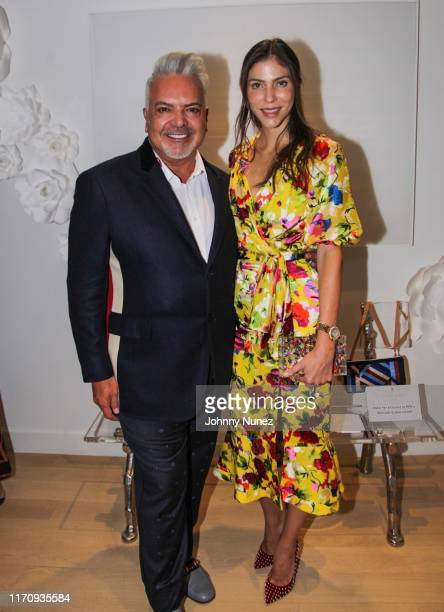 Henry Munoz and Alida Boer attend Mercado Global Special Cocktail Gathering on August 28, 2019 in New York City.