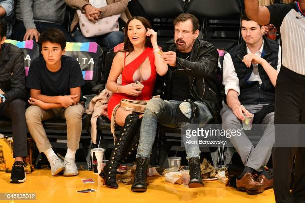Henry Nicholas attends a basketball game between the Los Angeles Lakers and the Sacramento Kings at Staples Center on October 4 2018 in Los Angeles...