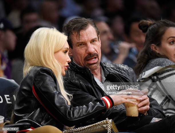 Henry Nicholas cofounder former cochairman of the board president and chief executive officer of Broadcom Corporationattends the Washington Wizards...