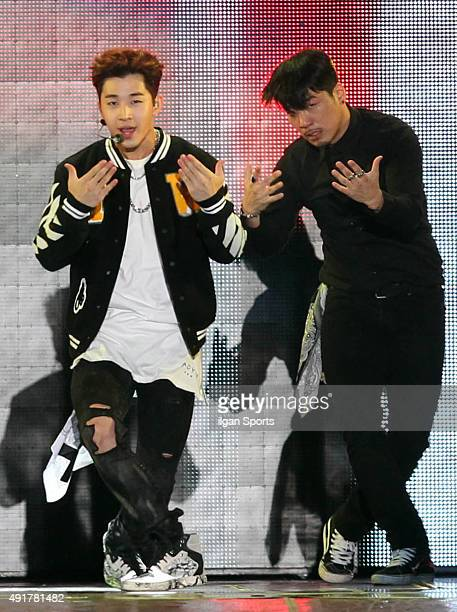 Henry of Super JuniorM performs onstage during the 2015 Gangnam Hanryu Festival at Yeongdongdaero on October 4 2015 in Seoul South Korea