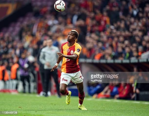 Henry Onyekuru during Galatasaray v Yeni Malatyaspor on April 62019 in Turk Telekom Stadium IstanbulTurkey