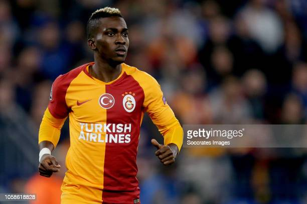 Henry Onyekuru of Galatasaray during the UEFA Champions League match between Schalke 04 v Galatasaray at the Veltins Arena on November 6 2018 in...
