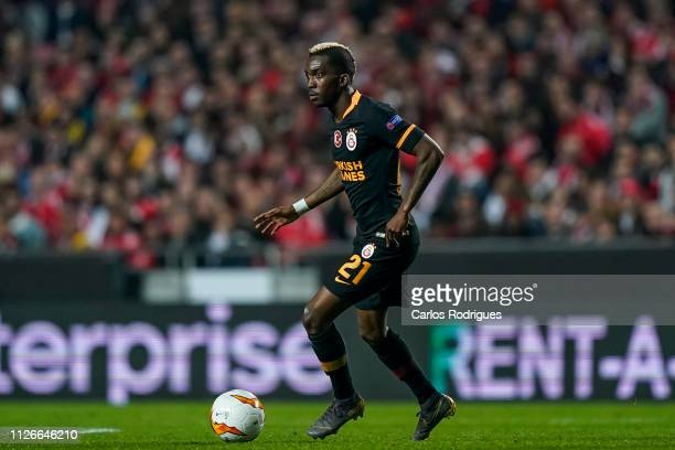 Henry Onyekuru of Galatasaray during the UEFA Europa League Round of 32 Second Leg match between SL Benfica and Galatasaray at Estadio da Luz on...