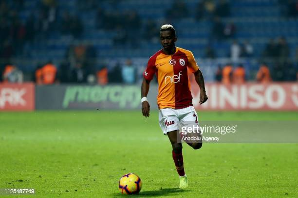 Henry Onyekuru of Galatasaray in action during the Turkish Super Lig soccer match between Kasimpasa and Galatasaray at Recep Tayyip Erdogan Stadium...