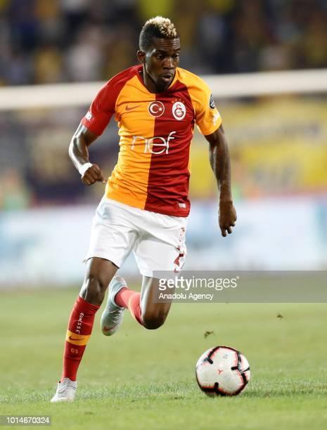 Henry Onyekuru of Galatasaray in action during Turkish Super Lig's new season's debut match between MKE Ankaragucu and Galatasaray at Osmanli Stadium...