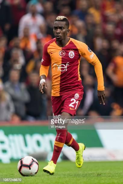 Henry Onyekuru of Galatasaray SK during the Turkish Spor Toto Super Lig football match between Galatasaray SK and Fenerbahce AS at the Türk Telekom...