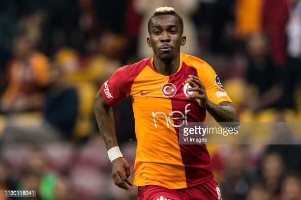 Henry Onyekuru of Galatasaray SK during the Turkish Spor Toto Super Lig football match between Galatasaray SK and Antalyaspor AS at the Türk Telekom...