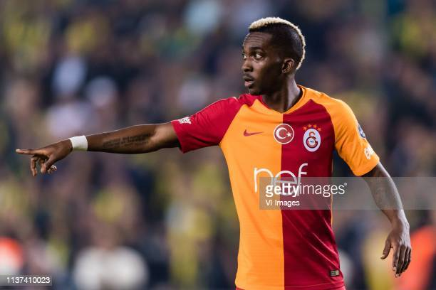 Henry Onyekuru of Galatasaray SK during the Turkish Spor Toto Super Lig football match between Fenerbahce AS and Galatasaray AS at the Sukru...