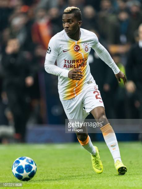 Henry Onyekuru of Galatasaray SK during the UEFA Champions League group D match between Galatasaray AS and FC Porto at Ali Sami Yen Spor Kompleksi on...