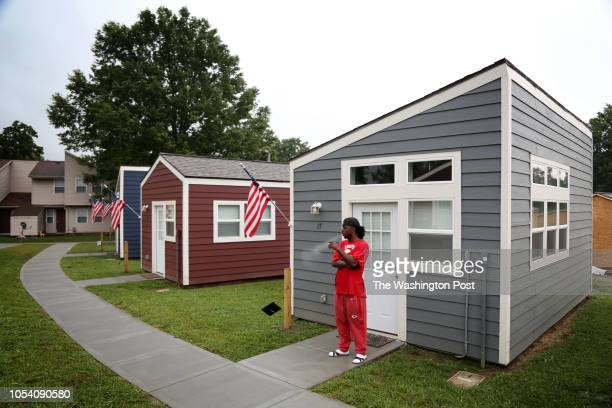 Henry Owens a resident of the Veterans Community Project in Kansas City Mo smokes a cigarette outsideThursday September 6 2016 The project offers...
