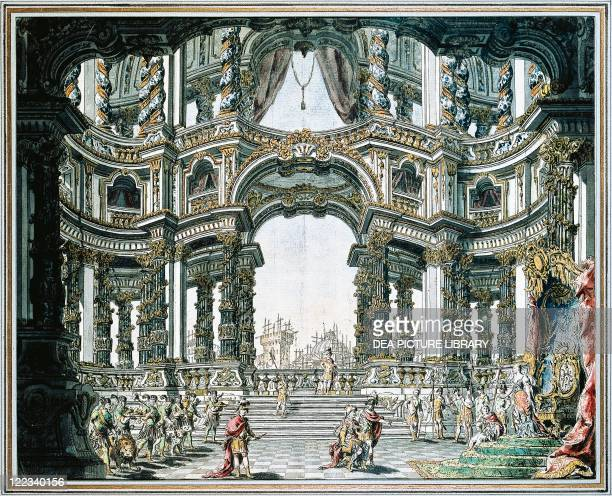 Henry Purcell Dido and Aeneas set design by Bibiena 1712