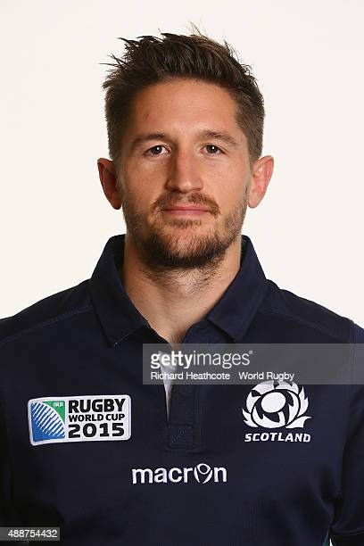 Henry Pyrgos of Scotland during the Scotland Rugby World Cup 2015 squad photo call at the Hilton Puckrup Hall Hotel on September 17 2015 in...