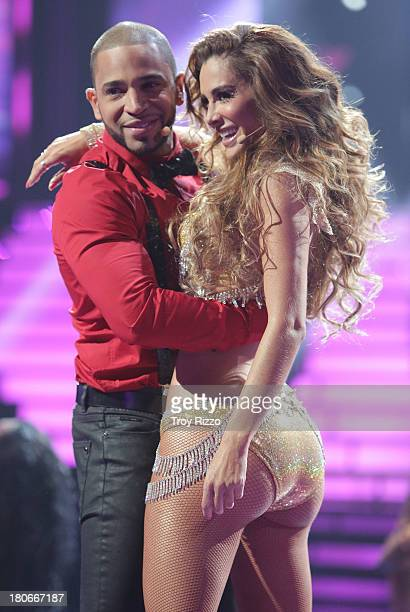 Henry Santos and Ninel Conde participate in premiere of Univision's Mira Quien Bailashow on September 14 2013 in Miami Florida
