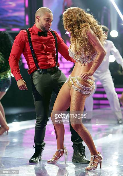 Henry Santos and Ninel Conde participate in premiere of Univision's 'Mira Quien Baila'show on September 14 2013 in Miami Florida