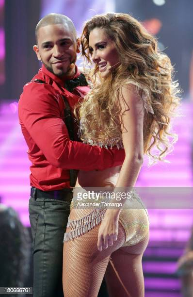 Henry Santos and Ninel Conde participate in the premiere of Univisions Mira Quien Baila show at Univision Studios on September 14 2013 in Miami...