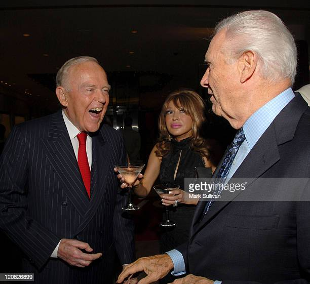 Henry Segerstrom of South Coast Plaza greets guest at the OMEGA and Tourbillon Great Moments in Time with James Bond event held at South Coast Plaza...