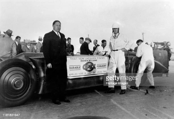 Henry Segrave and Golden Arrow at Daytona 1929 promoting Opex Lacquer Creator Unknown