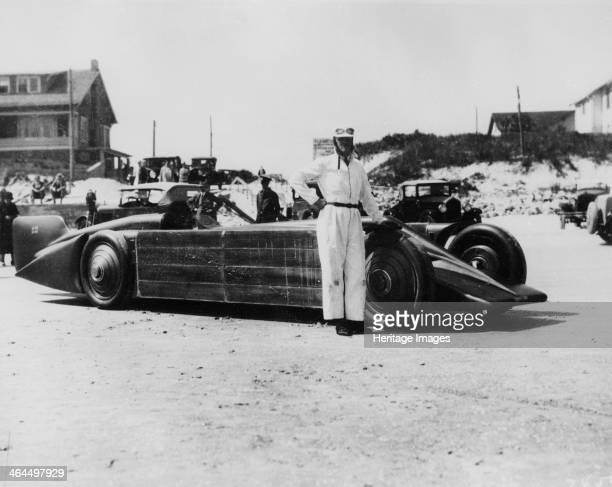 Henry Segrave with the Golden Arrow Daytona Beach Florida USA 1929 Following his record breaking success with the 1000hp Sunbeam Henry Segrave...