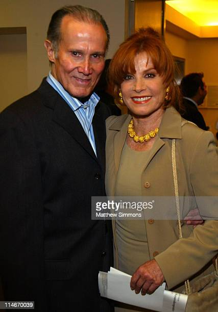 Henry Silva and Stefanie Powers during Opening of the Deanne F Johnson Center for Neurotherapeutics October 12 2004 at UCLA Medical Center in Los...