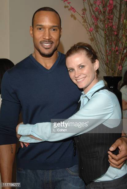 Henry Simmons and Bonnie Somerville during W Magazine Retreat Day 2 at Private Residence in Beverly Hills California United States