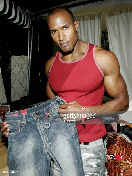 Henry Simmons and Buffalo Jeans during UPP Silver Spoon Hollywood Buffet Day One at Private Estate in Los Angeles CA United States