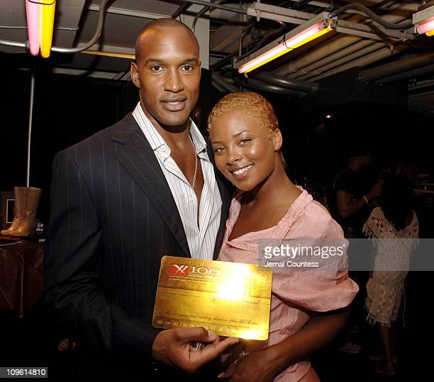 Henry Simmons and Eva Pigford during 2005 Fashion Rocks Talent Gift Lounge Produced by On 3 Productions Day 2 at Radio City Music Hall in New York...