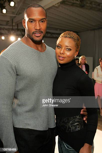 Henry Simmons and Eva Pigford front row at Chan Luu Spring 2006