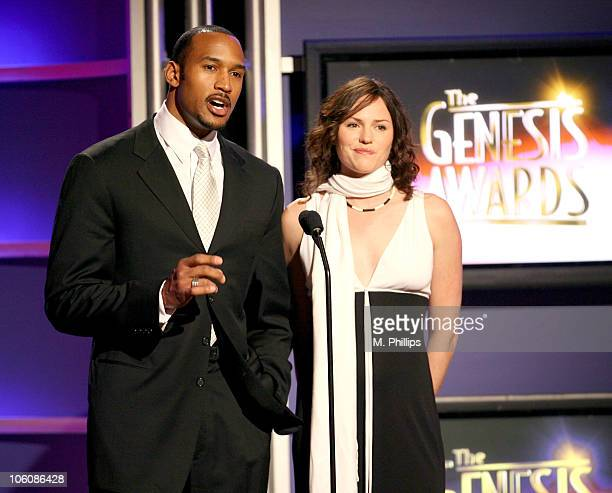 Henry Simmons and Jorja Fox during 20th Anniversary Genesis Awards Show at Beverly Hills Hotel in Beverly Hills CA United States