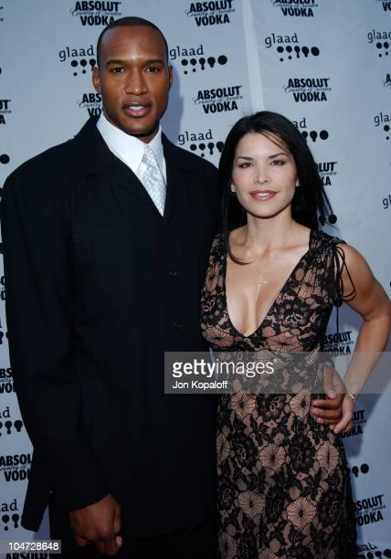 Henry Simmons and Lauren Sanchez during 14th Annual GLAAD Media Awards Los Angeles at Kodak Theatre in Hollywood California United States