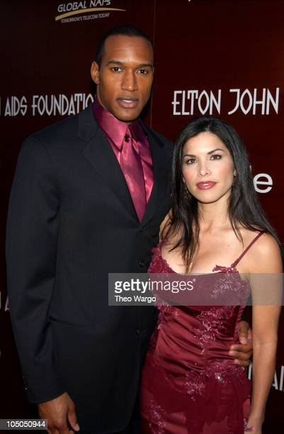 Henry Simmons and Lauren Sanchez during Elton John AIDS Foundation's 11th Annual Oscar party cohosted by In Style and AOL in association with MAC...