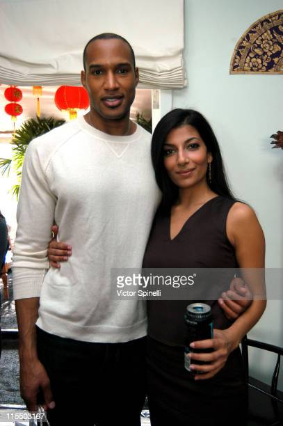 Henry Simmons and Sonal Adhikari during TMG Luxury Suite Day 2 at Luxe Hotel in Beverly Hills California United States