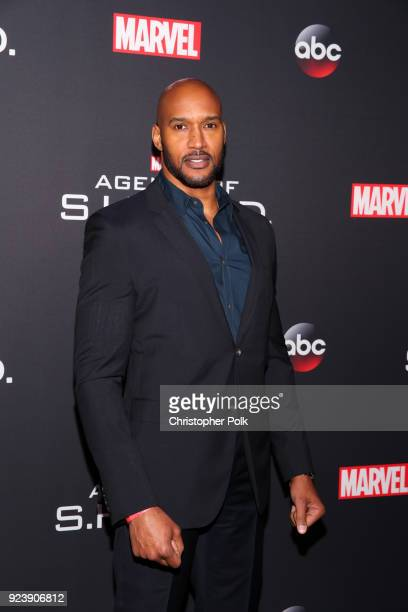 "Henry Simmons attends the 100th episode celebration of ABC's ""Marvel's Agents of S.H.I.E.L.D."" at OHM Nightclub on February 24, 2018 in Hollywood,..."