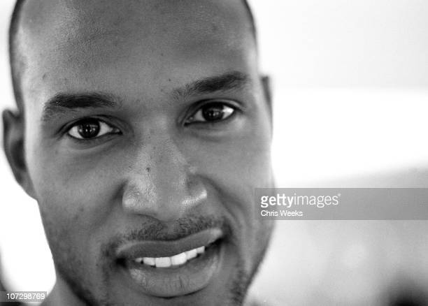 Henry Simmons during 2005 Silver Spoon PreEmmy Hollywood Buffet Black White Photography by Chris Weeks at Private Residence in Beverly Hills...