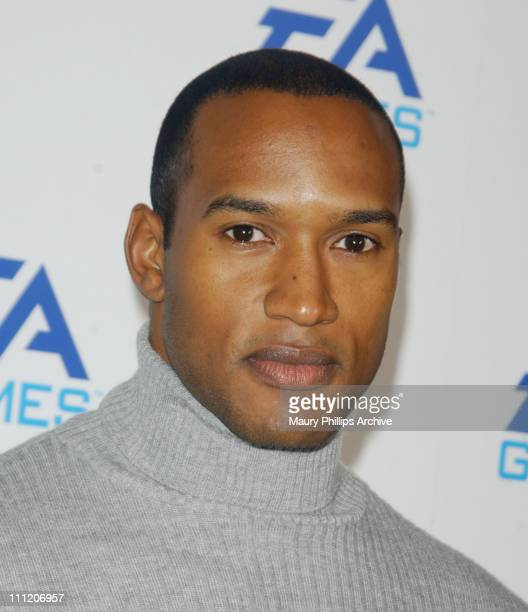 Henry Simmons during EA Games Launch Party in Hollywood 2002 at Raleigh Studios in Hollywood California United States