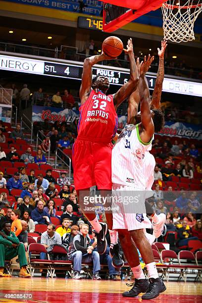Henry Sims of the Grand Rapids Drive shoots the ball against the Iowa Energy in an NBA DLeague game on November 21 2015 at the Wells Fargo Arena in...